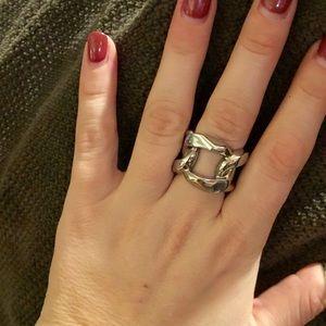 Michael Kors silver ring EUC